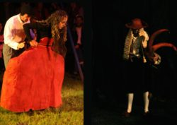 Magali Castellan - Costumière accéssoiriste - Réalisation de costumes de théâtres - Les vieux démons - théâtre de rue - création et réalisation des costumes